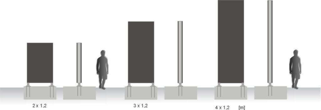 szablon pylon 3 x 1,2 m