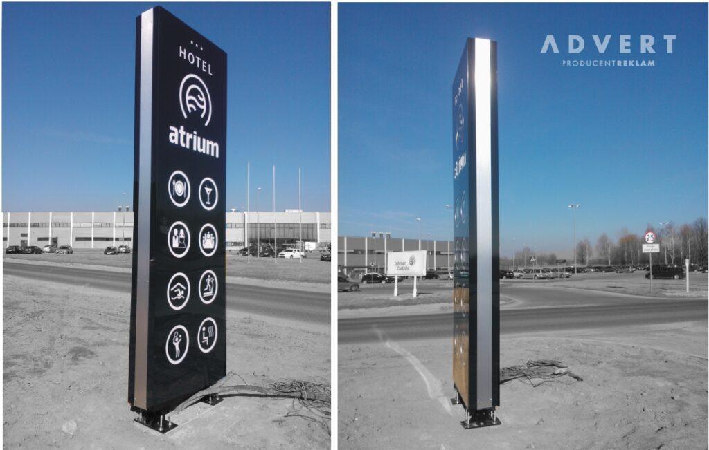 Pylon hotelowy - producent pylonow advert reklama opole