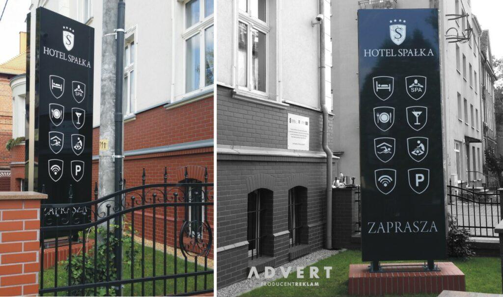 ylon hotelowy - producent pylonow advert Opole