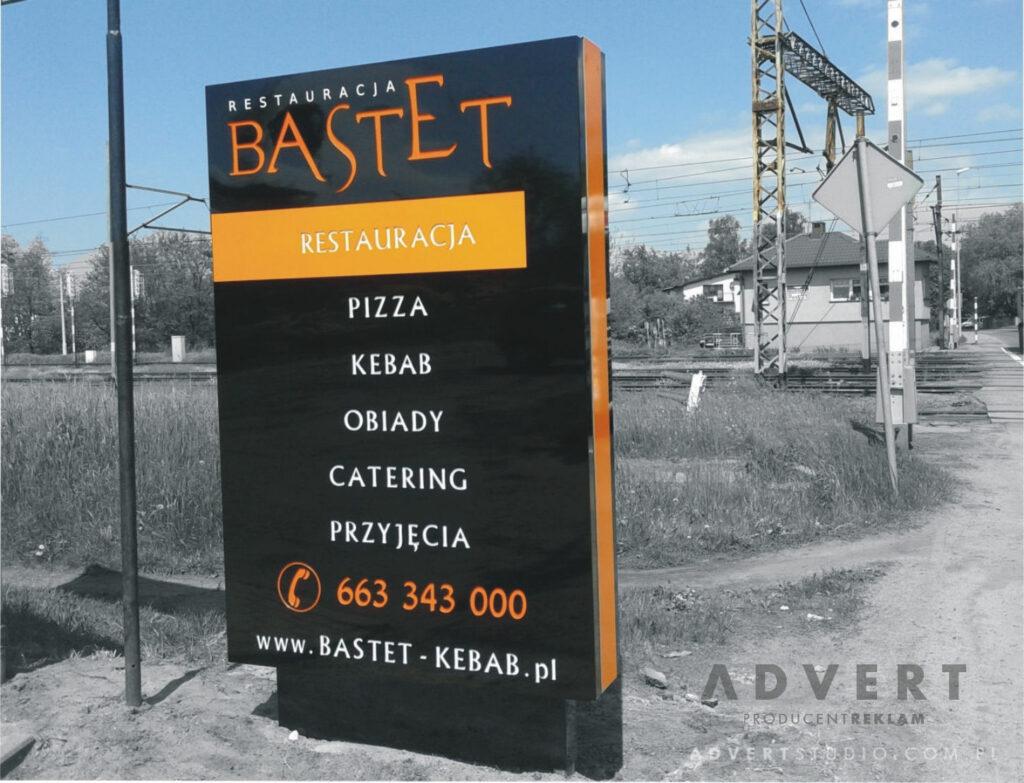 Pylon dla gastronomi - producent pylonow advert