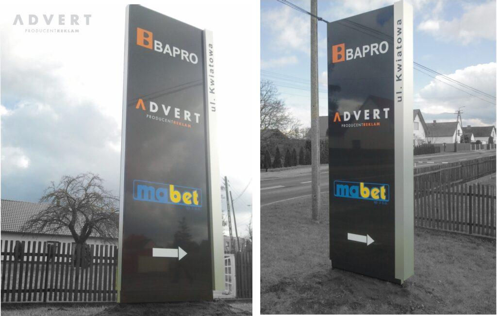 producent pylonow advert -pylony z nazwami firm