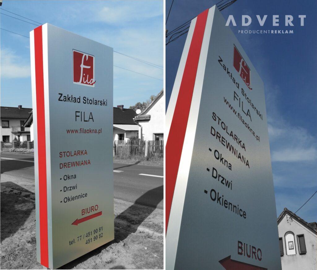 pylon firmy rodzinnej FILAS- producent pylonow advert