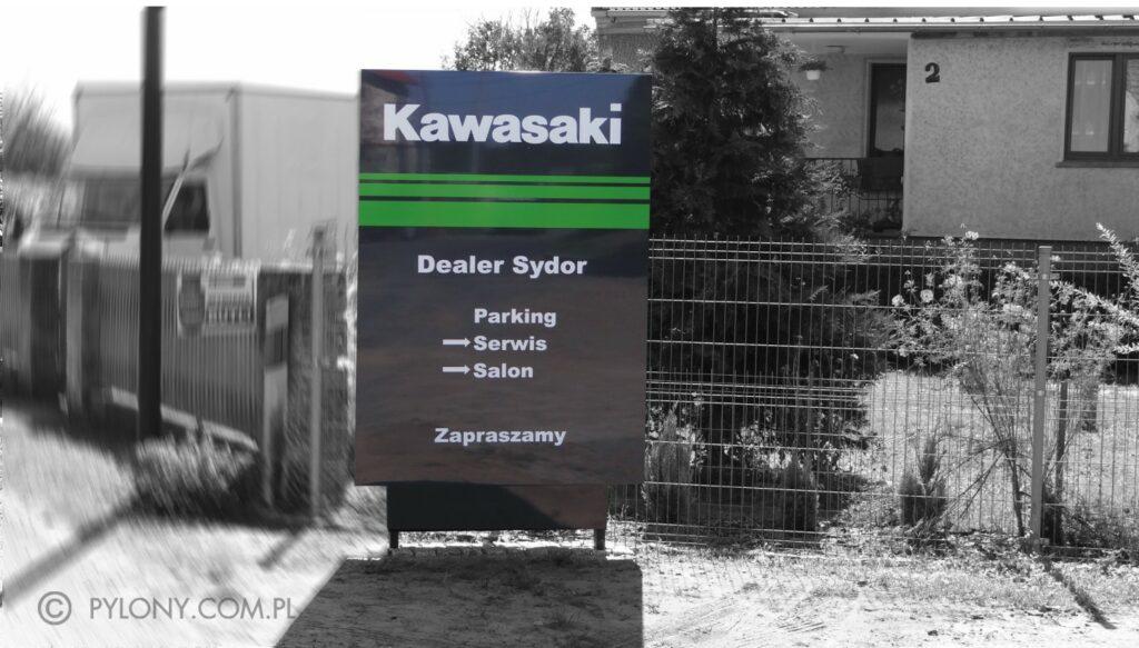 pylon-dealera-kawasaki-advert-reklama-opole