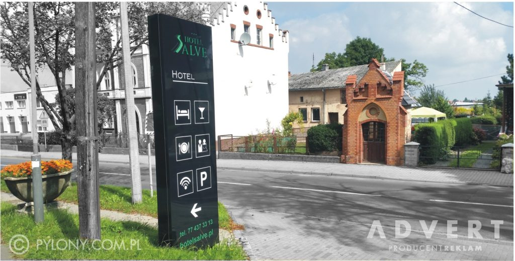 pylon dla hotelu Salve- producent pylonow advert reklama opole