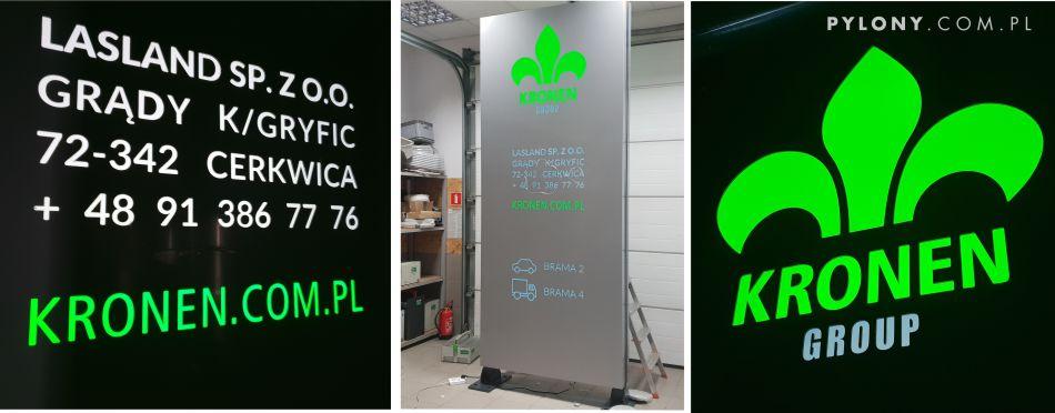 Tablica LED typu PYLON dla KRONEN