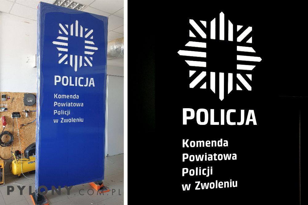producent pylonów reklamowych LED Pylon Policja