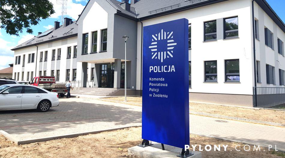 pylon reklamowy LED Policja