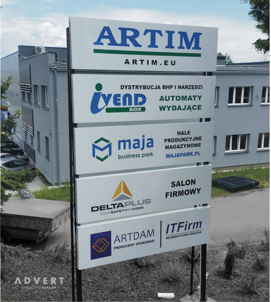 pylon 7 x 3,5 Artim Olawa-advert propducent reklam