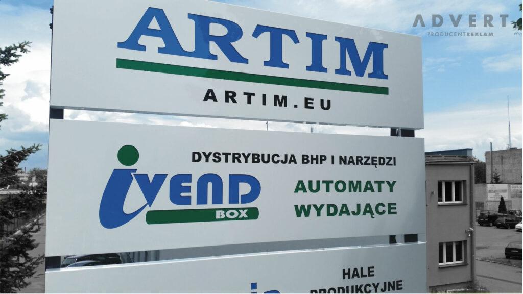 pylon wizerunkowy artim - advert producent pylonow