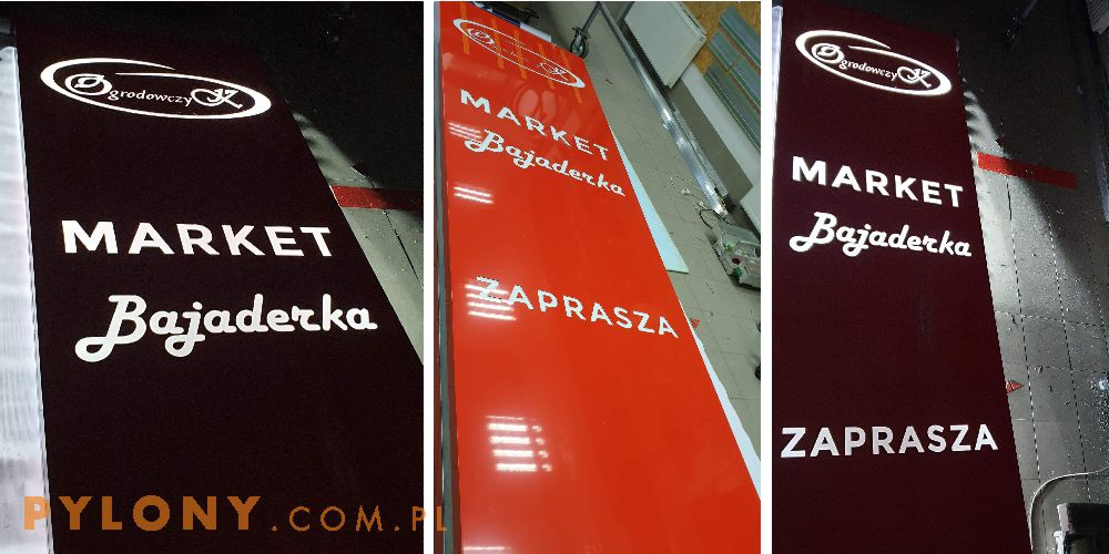 Pylon reklamowy Market Bajaderka