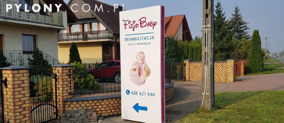 pylon reklamowy dla REhabilitacja FIZJOBABY