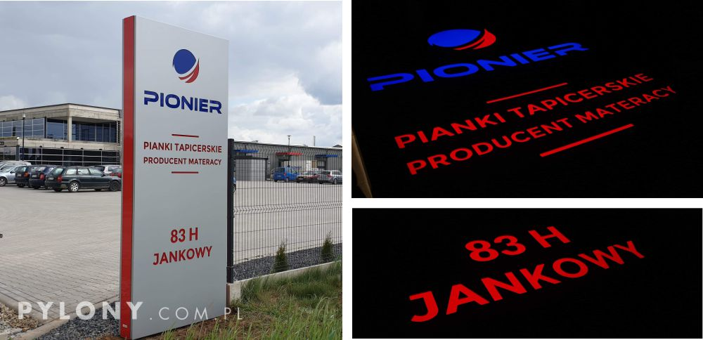 Pylon reklamowy Pianka tapicerska Pionier