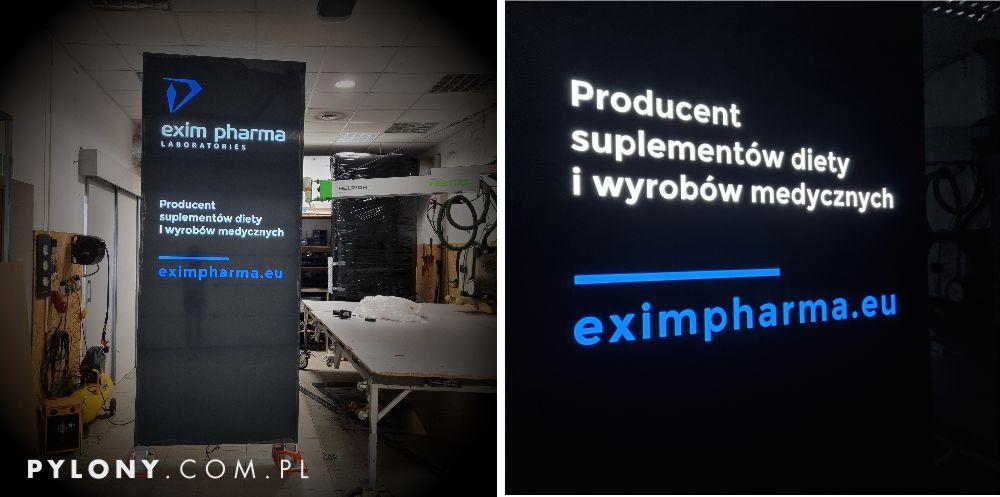 pylon reklamowy Exim Pharm warszawa