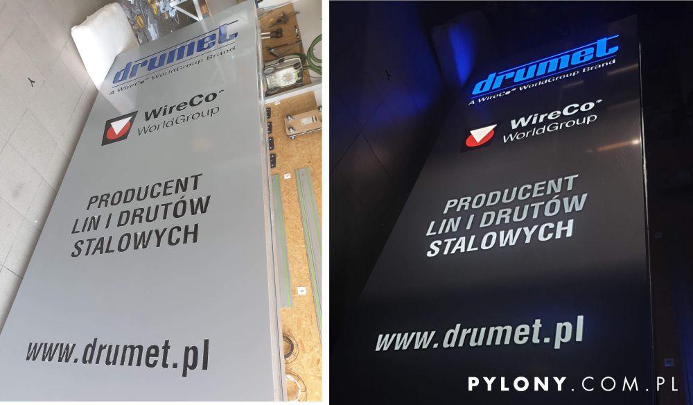 pylon reklamowy Drumet Druty Stalowe